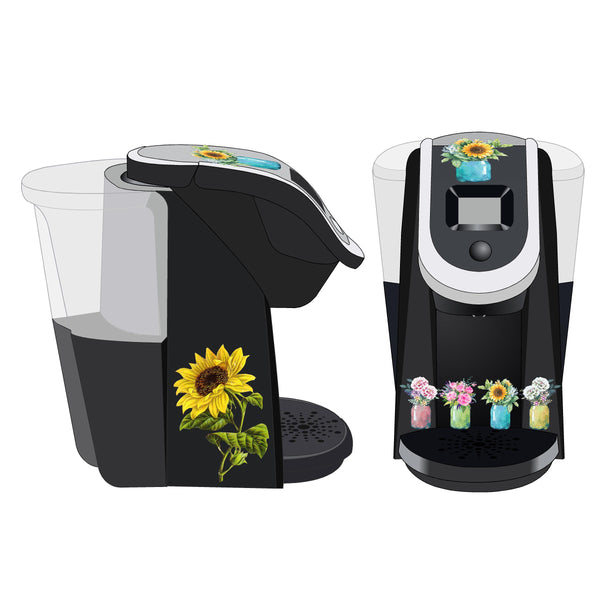 Mason Jar Flowers Decal for Keurig