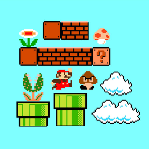 Super Mario Wall Decal Set