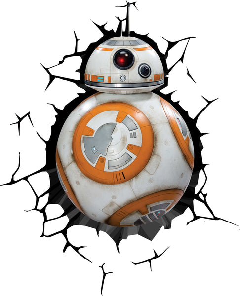 BB8 Star Wars Crack Wall Decal
