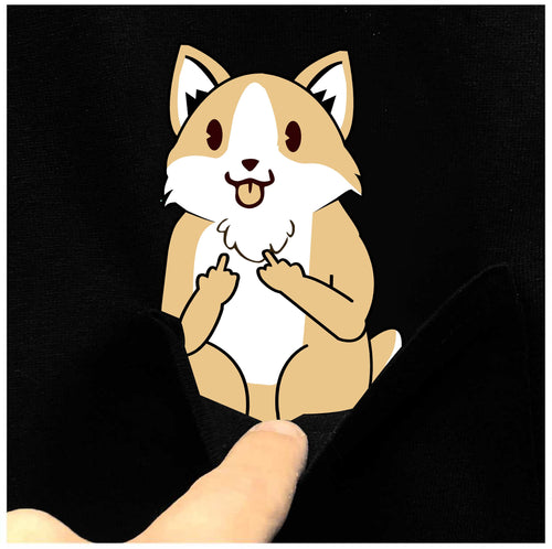 F-You Pocket Cute Corgi Tee