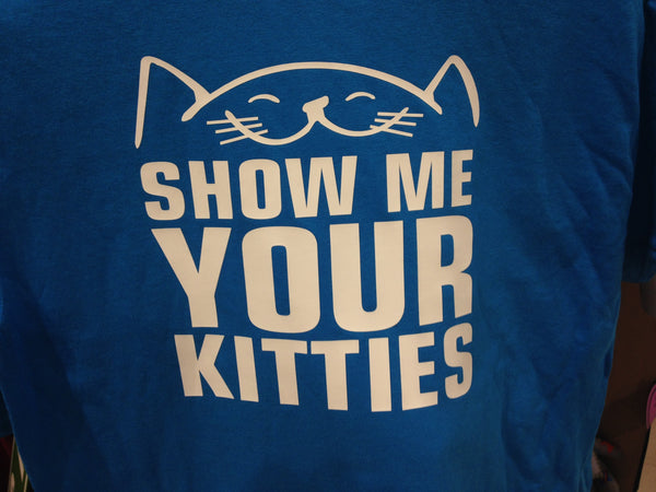 Show Me Your Kitties Blue Tee