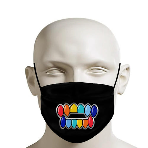 Rainbow Grill Printed Mask