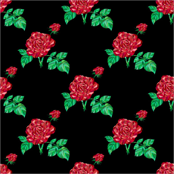 Abstract Roses Vinyl Roll