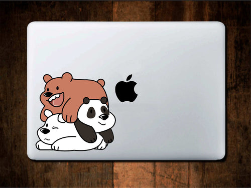 We Bare Bears Stack Cute Printed Decal