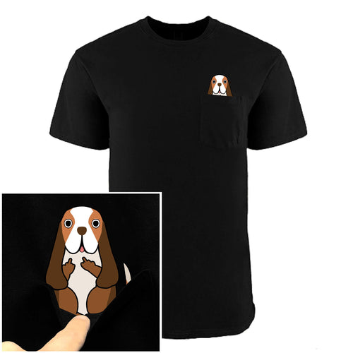 F-You Pocket Basset Hound Tee