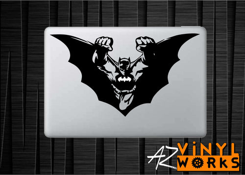 Batman In Flight Vinyl Decal for Mac
