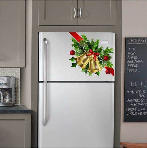 Bells and Bows Corner Vinyl Decal for Refrigerators, Dishwashers and More!