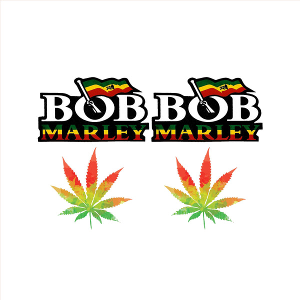 Rastafarian Bob Marley Mixer Decal Set