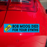 Bob Moog Died Synths Sticker