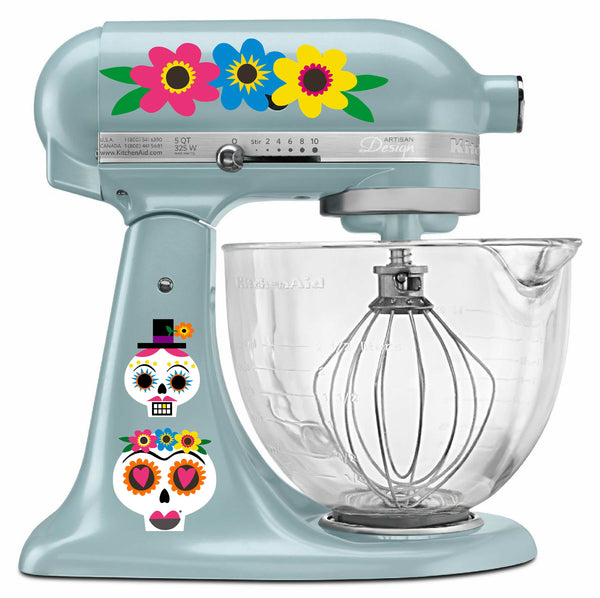 Candy Skull Mixer Decal
