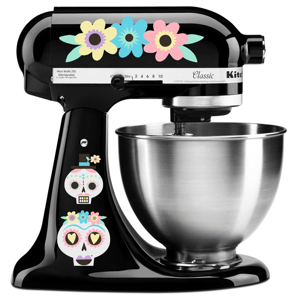 Pastel Candy Skull Mixer Decal