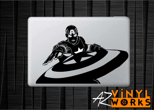 Captain America Shield Throw Vinyl Decal for Mac
