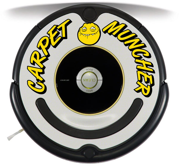 Carpet Muncher Roomba Decal