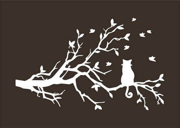 Cat in a Tree Wall Decal