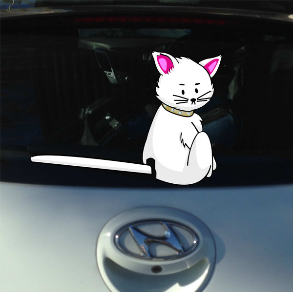 Cat Tail Windshield Wiper Decal