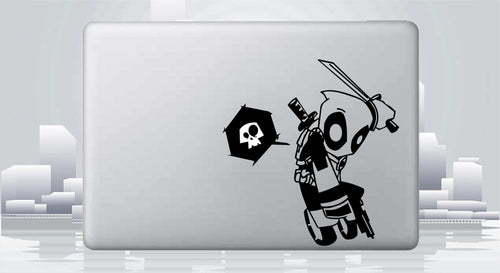 Dead Pool - Chibi Death Jump Vinyl Decal for Mac