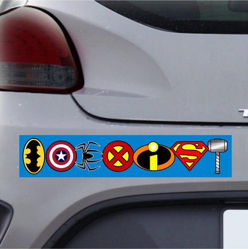 Full Color Coexist Superhero Sticker
