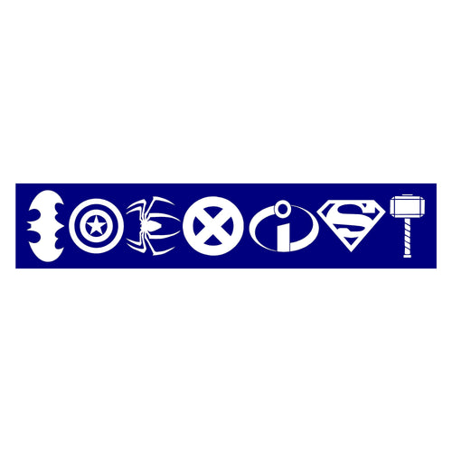 Coexist Superhero Bumper Sticker