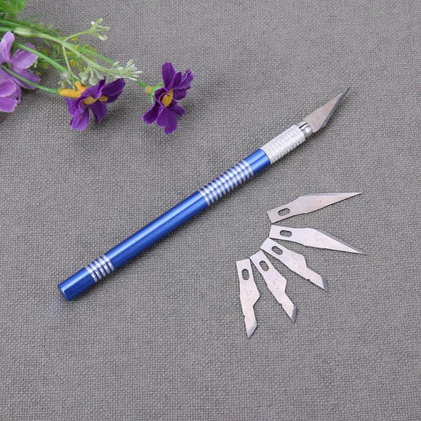 Orange and Blue Craft Knife Set with Blades