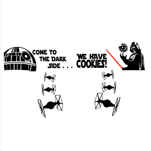 Come to the Dark Side . . . We Have Cookies! Decal Set