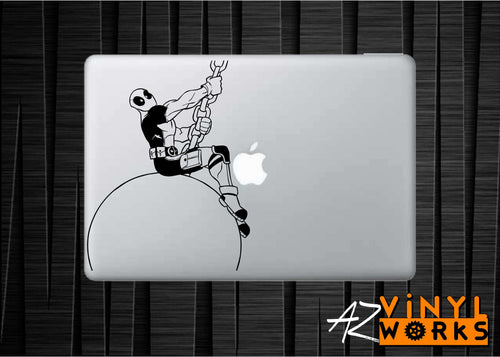 "Hilarious ""Wrecking Ball"" Deadpool Parody Vinyl Decal"