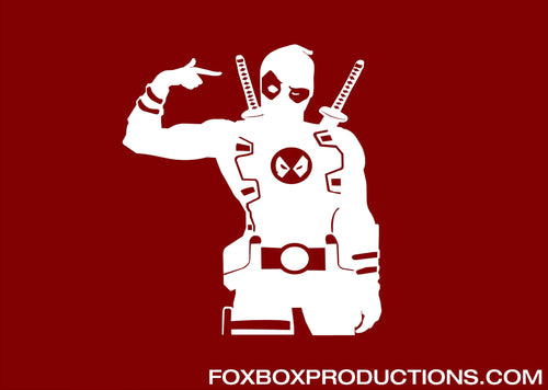 Dead Pool Gun Sign Vinyl Decal for Mac