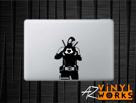 Captain America Stance Vinyl Decal for Mac