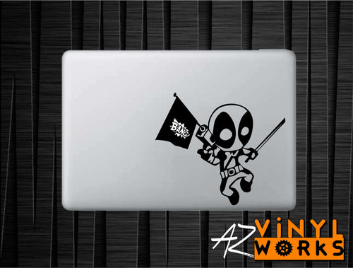 Dead Pool - Chibi Pop Gun Vinyl Decal for Mac