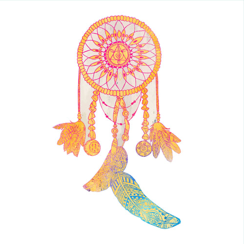 Watercolor Dreamcatcher Static Cling