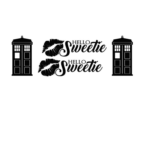 Hello Sweetie Dr. Who Decal Set