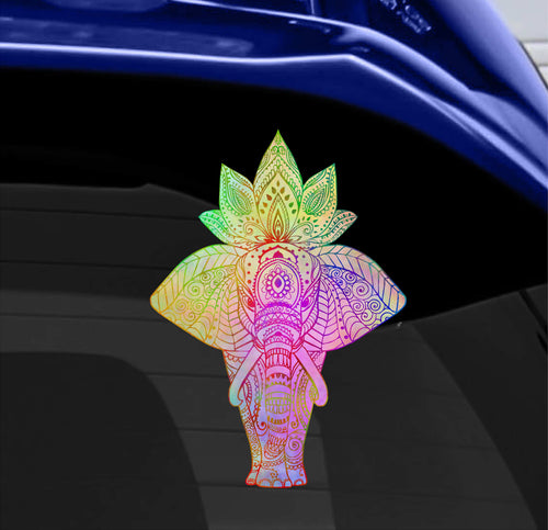 Watercolor Elephant Static Cling