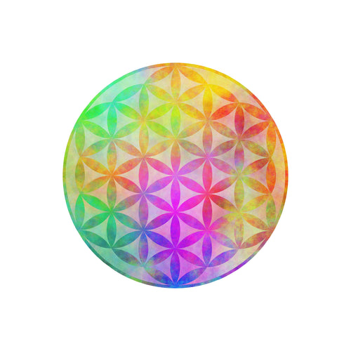 Watercolor Flower of Life Static Cling