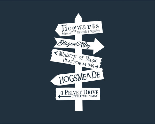 Harry Potter Places Directional Decal