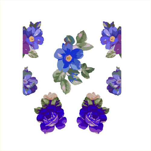 Blue Flower Woman Set