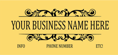Customize this Decal for Your Business! Add your Name, Logo, and Other Info, Design Fees Included!