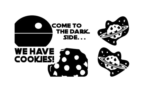 Come to the Dark Side . . . We have Cookies! Vinyl Decals for Kitchenaid Mixer and More!