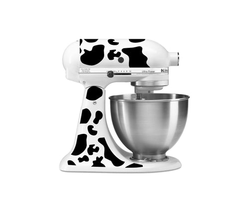 Cow Spots Themed Vinyl Decal for Kitchenaid Mixers and More!