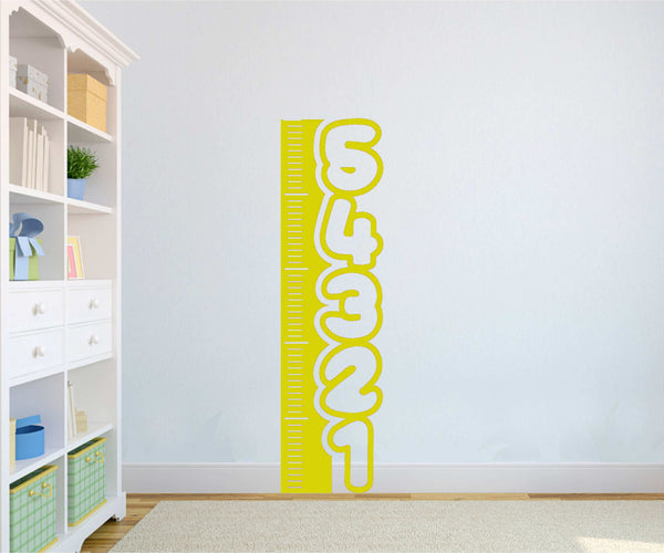 "Cute ""Measuring Post"" 5ft Tall Vinyl Decal for Kids, Playrooms, Etc. Lots of Colors Available!"