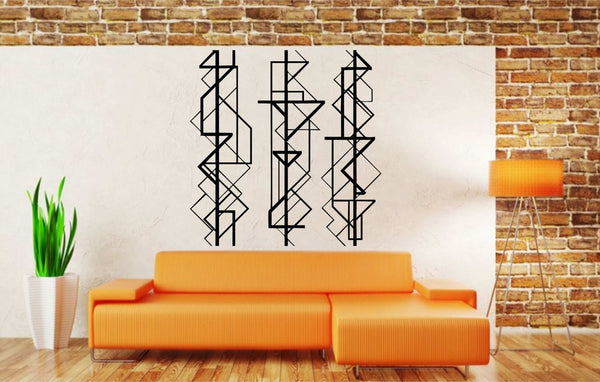 Large Geometric Minimalist Designs Wall Art Vinyl Decal for Walls, Windows and More!