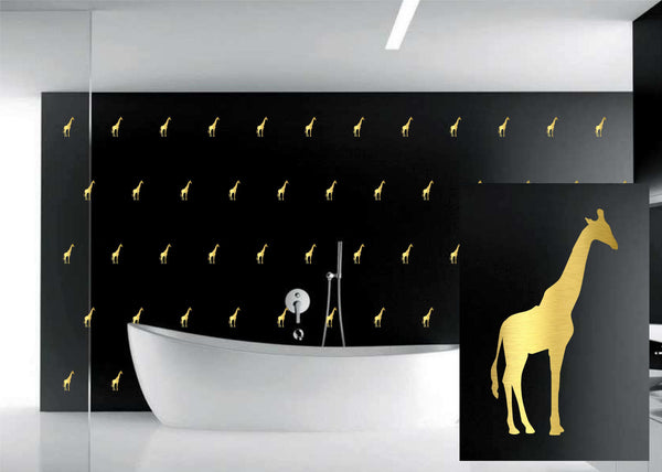Giraffe Pattern Classy Beautiful Wall Art Vinyl Decal for Walls, Windows and More!