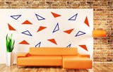 Triangles Minimalist Wall Art Decals, Perfect to Spruce up Any Room! Pick any two colors, tons of options available!