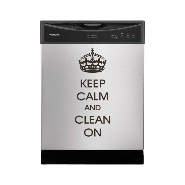 Keep Calm and Clean On - Large Size Vinyl Decal for Washing Machines and More!