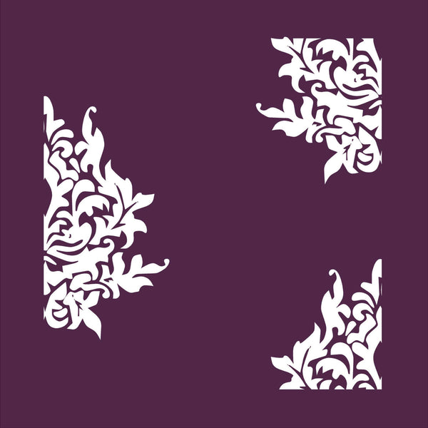 Damask Flower Decor 3 Piece Vinyl Decals for Dishwasher, Fridge and More! Lots of Colors Available!
