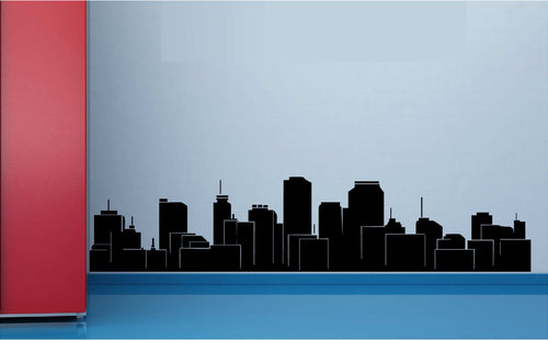 Cityscape Baseboard/Kitchen Counter Topper Vinyl Decal for Walls, Windows and More! Tons of Colors Available!