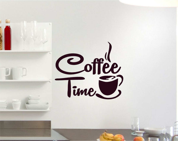 Coffee Time Espresso Lovers Vinyl Decal for Walls, Windows and More! Tons of Colors Available!