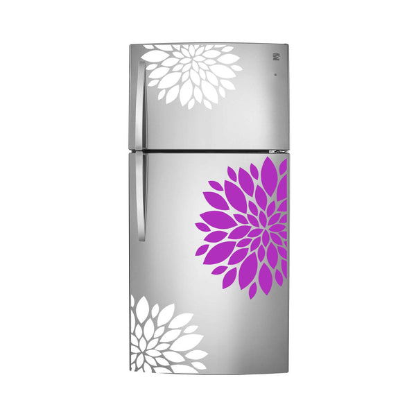 Giant Poppies 2 Color Flower Vinyl Decal for Top/Bottom Refrigerators, Walls and More!