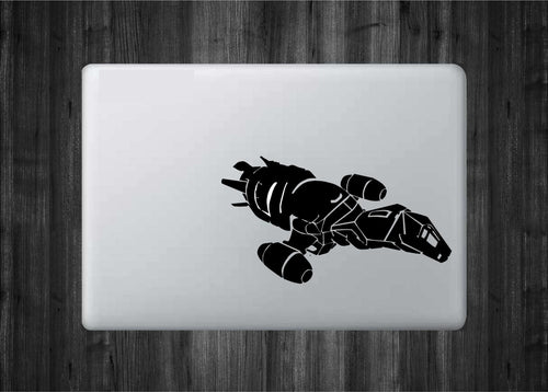"Firefly Serenity inspired Vinyl Decal with ""Glowing"" Thrusters/Engines for Apple Macbooks and More!"