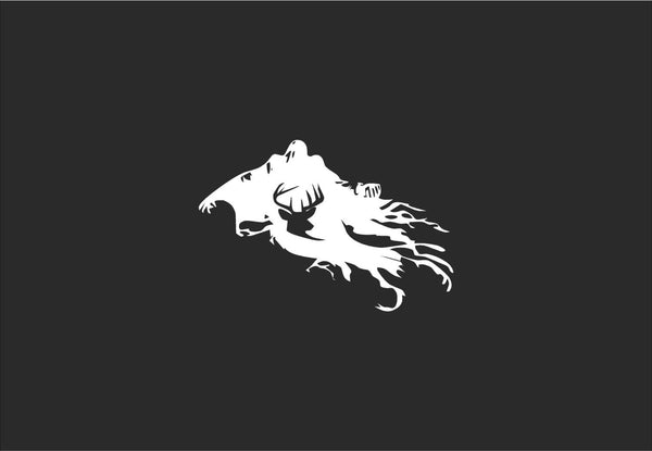 "Patronus and Death Eater Inspired Vinyl Decal for Macbook Laptops and More with ""Glowing"" Stag"
