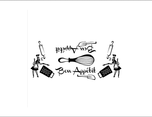 Bon Appetit - Chef Vinyl Decal Set for Kitchenaid Mixers and More!