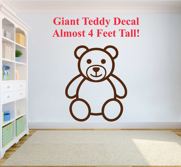 GIANT Teddy Bear - Adorable Large-Size Vinyl Decal for Walls, Windows and More!